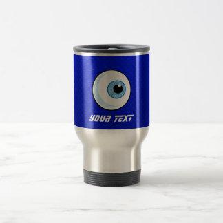 Globo del ojo azul taza de viaje