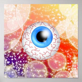 Globo del ojo de Halloween - SRF Poster