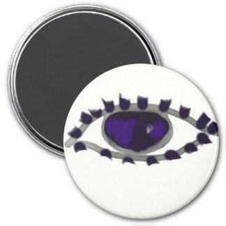 globo del ojo de los alans imán redondo 7 cm