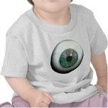 Globo del ojo espeluznante artístico camisetas
