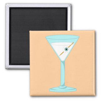 Globo del ojo humano Martini del ojo de cristal Imán Cuadrado
