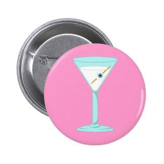 Globo del ojo humano Martini del ojo de cristal Pin Redondo De 2 Pulgadas