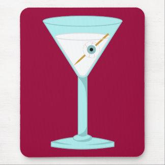 Globo del ojo humano Martini del ojo de cristal Alfombrilla De Raton