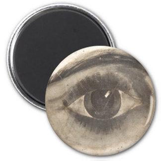 Globo del ojo impreso extraño del ojo espeluznante imán redondo 5 cm