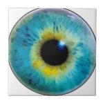 Globo del ojo - iris azulejo
