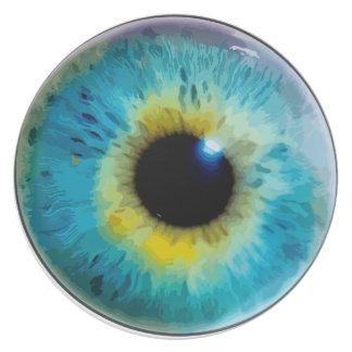 Globo del ojo - iris plato de cena