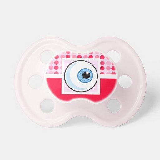Globo del ojo lindo chupete de bebé
