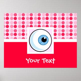 Globo del ojo lindo poster