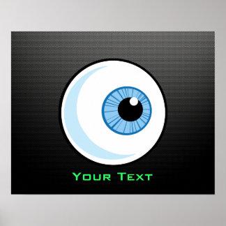 Globo del ojo liso poster
