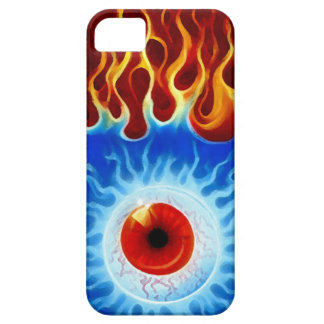 GLOBO DEL OJO LLAMEANTE iPhone 5 FUNDA
