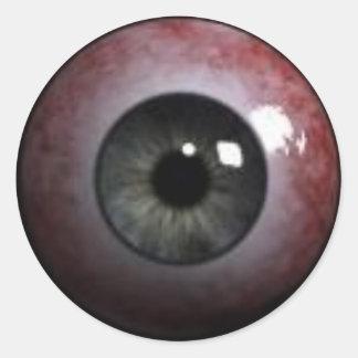 globo del ojo malvado pegatina redonda