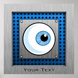 Globo del ojo; Metal-mirada Poster