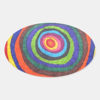 Globo del ojo pegatinas de oval