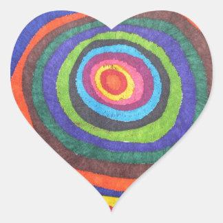 Globo del ojo calcomanía de corazón