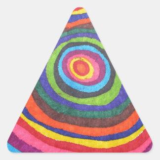 Globo del ojo calcomania de triangulo personalizadas