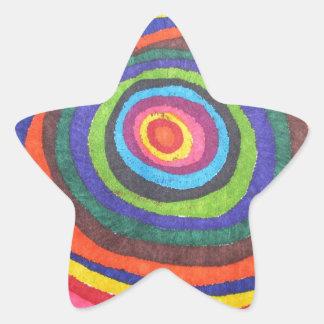 Globo del ojo calcomania forma de estrella personalizadas