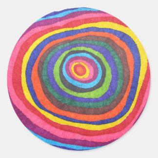Globo del ojo etiquetas redondas