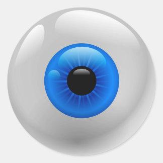Globo del ojo pegatina redonda