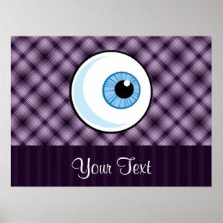 Globo del ojo; Púrpura Posters