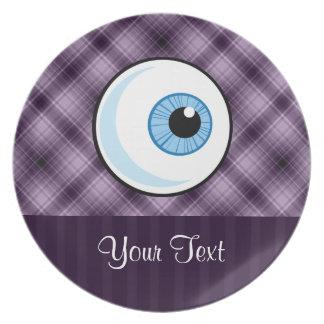Globo del ojo; Púrpura Platos De Comidas