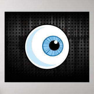 Globo del ojo; Rugoso Posters