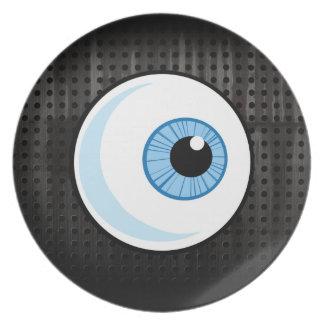Globo del ojo; Rugoso Plato Para Fiesta