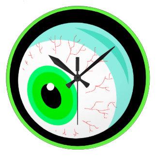 Globo del ojo torpe fantasmagórico asustadizo giga reloj redondo grande