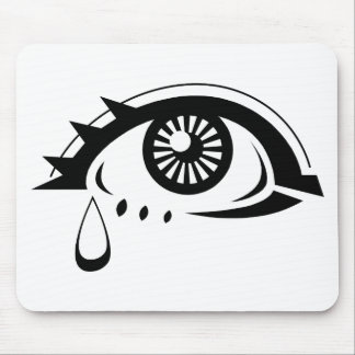 Globo del ojo triste mousepads
