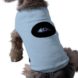 Globo del ojo único divertido lindo de la púrpura playera sin mangas para perro