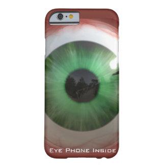 Globo del ojo verde espeluznante de la diversión - funda para iPhone 6 barely there