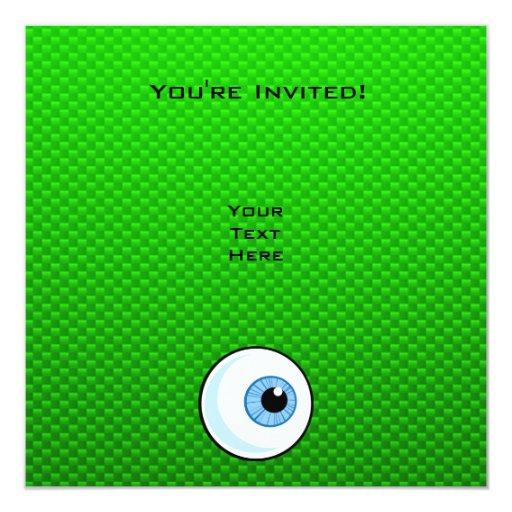 Globo del ojo; Verde Invitación 13,3 Cm X 13,3cm