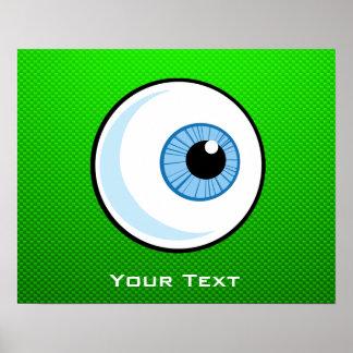 Globo del ojo; Verde Poster