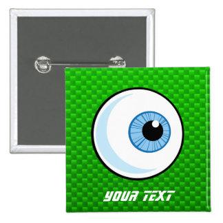 Globo del ojo; Verde Pins