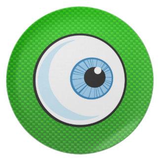 Globo del ojo; Verde Platos Para Fiestas
