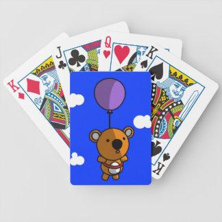 Globo del oso de peluche cartas de juego