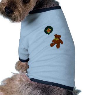 Globo del oso de peluche de la acción de gracias w ropa perro