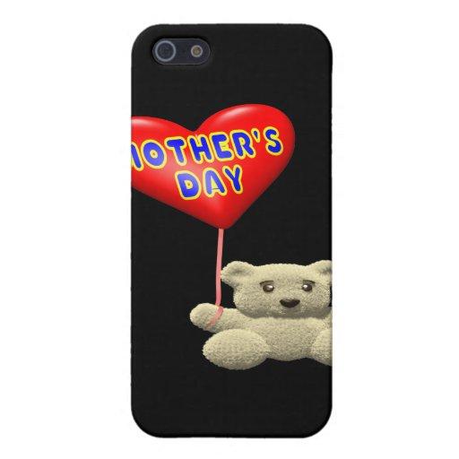 Globo del oso de peluche del día de madres iPhone 5 funda