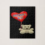 Globo del oso de peluche del día de madres puzzles
