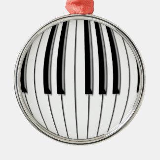 Globo del piano adorno navideño redondo de metal