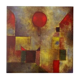 Globo del rojo de Paul Klee Azulejo Cuadrado Pequeño