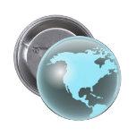 Globo del vidrio de Norteamérica Pin