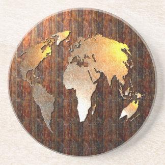Globo del vintage posavasos personalizados