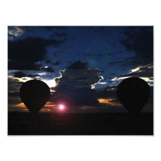 Globo en la oscuridad arte fotográfico