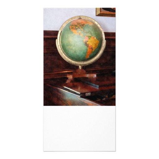 Globo en piano tarjeta personal