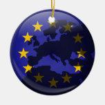 Globo europeo adorno