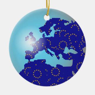 Globo europeo de la bandera ornamento para reyes magos