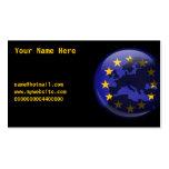 Globo europeo, su nombre aquí, tarjetas de visita