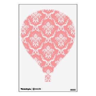 Globo floral blanco y rosado del aire caliente del vinilo adhesivo