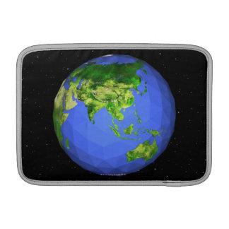 Globo geodésico en espacio fundas macbook air