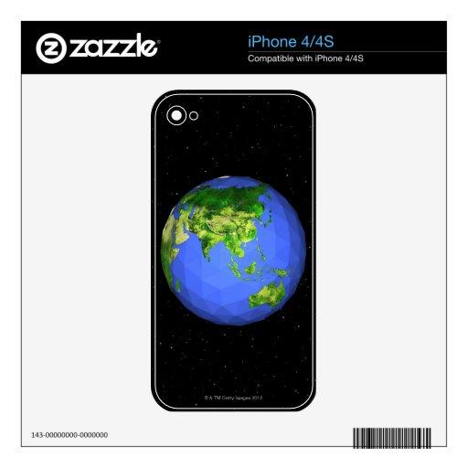 Globo geodésico en espacio calcomanías para iPhone 4S